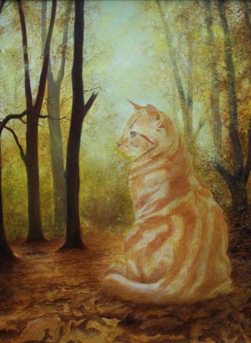 phoca_thumb_l_Autumn Cat (oil)