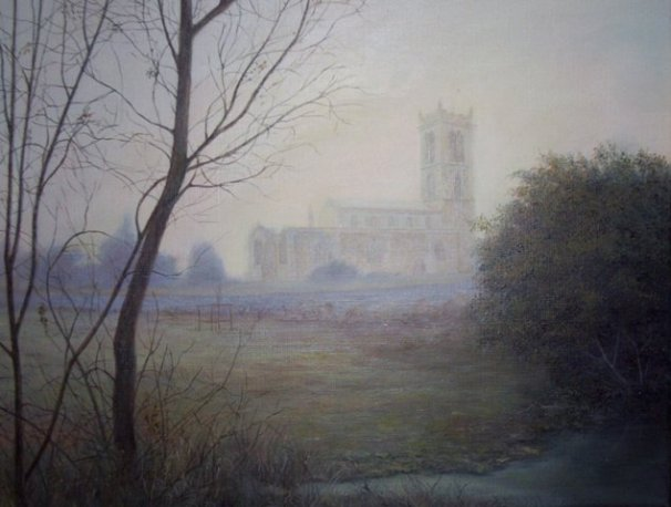 phoca_thumb_l_Moulton Parish Church (oil)