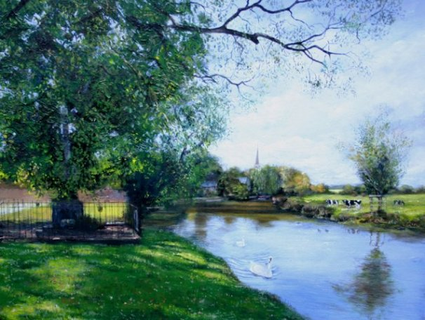 phoca_thumb_l_River Nene, Denford (oil)