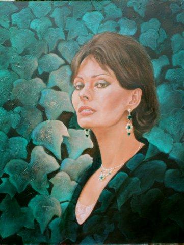phoca_thumb_l_Sophia Loren (oil)