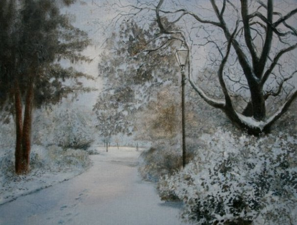 phoca_thumb_l_Swanspool Gardens, Wellingborough (oil)