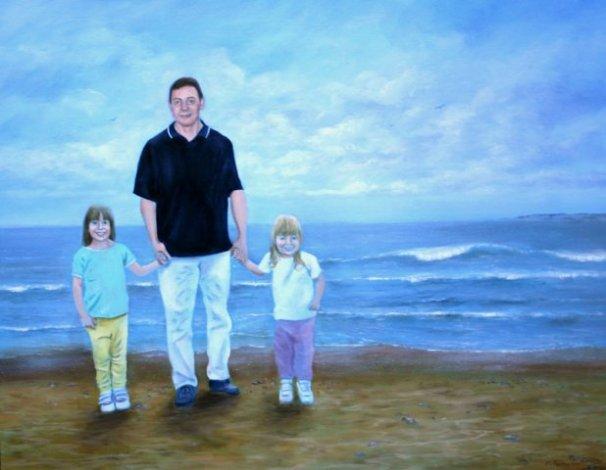 phoca_thumb_l_Trio on Beach (oil)
