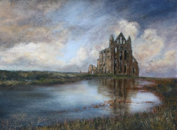 phoca_thumb_l_Whitby Abbey 2009 (oil)