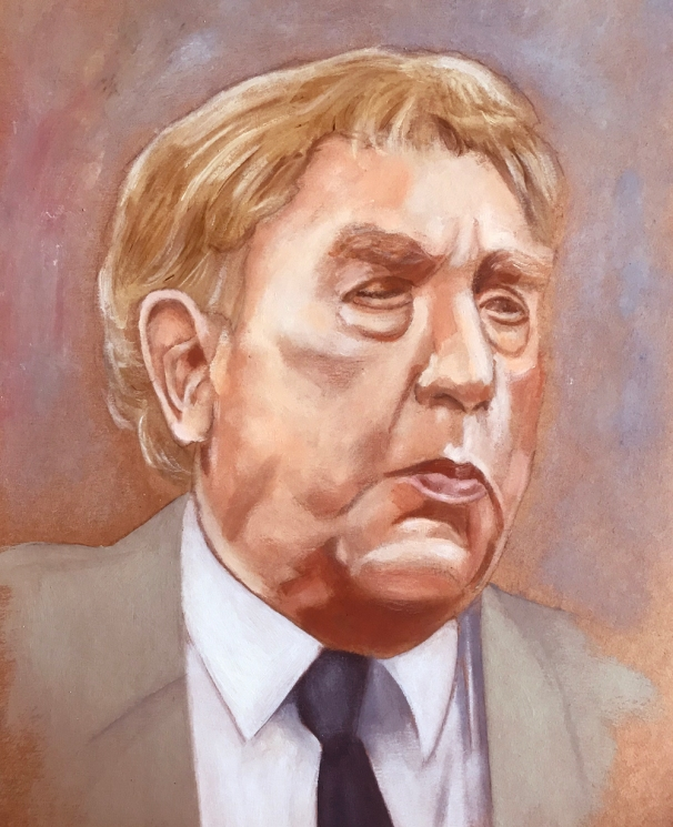 Painting - Frankie Howerd crop